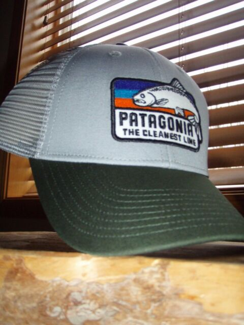 Patagonia The Cleanest Line Fish Drifter Grey LoPro Trucker Hat ... e71b6592e7d