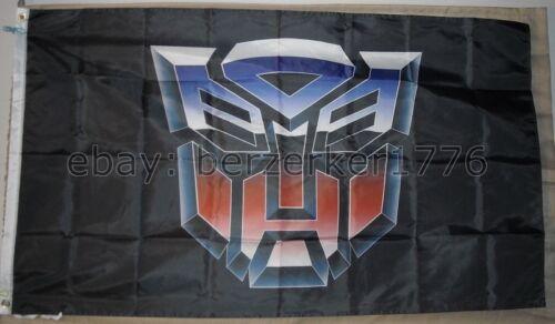 AutoBots Transformers 3/'x5/' Flag Banner Black Optimus Prime USA Seller Shipper