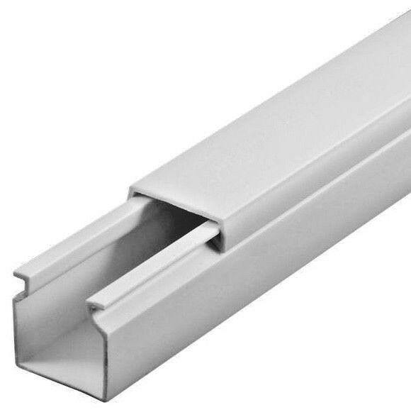 20 m 60x60mm Profi Kabelkanal Schraubbar PVC Installationskanal Elektrokanal