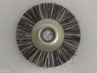3/4 Wheel Brush Natural Bristle Medium 1/8 Center Hole 24 Pcs Dental Jewelry