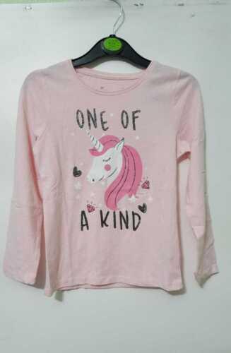 Unicorn filles Enfants T-shirt top rose Sparkle Unicorn Autocollant Imprimé T-Shirt Primark