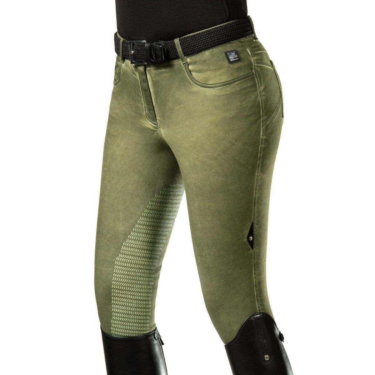 Equiline Stella señora reithose half Grip Hunter verde f s 18