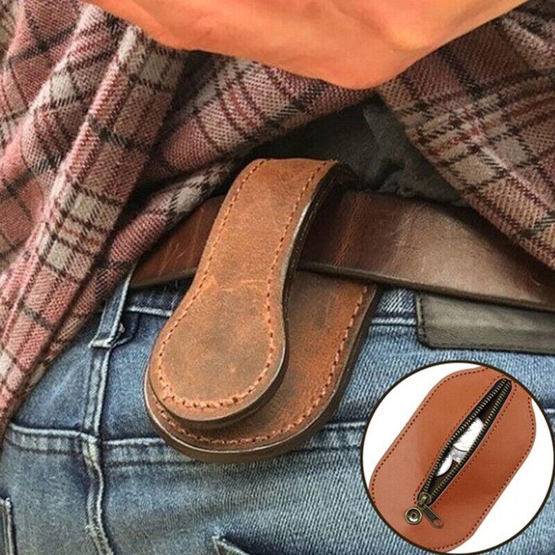 Men Leather Coin Purse Outdoor Utility Multi-Tool Wallet Women.hc