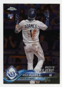 2018-Topps-Chrome-Update-WILLY-ADAMES-Logo-Rookie-Card-RC-HMT100-Tampa-Bay-Rays