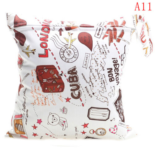 Wet bag washable reusable cloth diaper nappies bags waterproof L1F