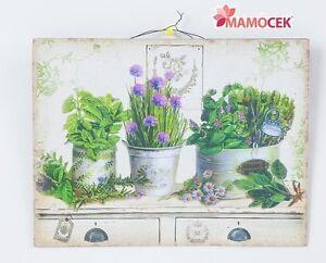 Quadro pannello in metallo vasi erbe decorazione casa for Decorazione vasi