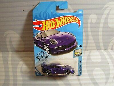 Lot of 3 Hot Wheels 2019 246//250 Factory Fresh Purple Porsche 911 GT3 RS