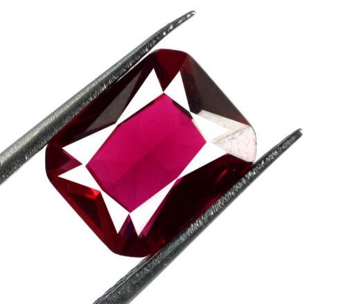 Burma Ruby Loose Gemstone 2.90 Ct 100/% Natural Emerald Cut Certified