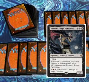 mtg-BLACK-RED-RAKDOS-VAMPIRES-COMMANDER-EDH-DECK-Magic-the-Gathering-rare-cards
