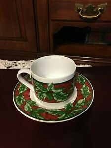 Bob Timberlake Christmas Celebration International Tableworks Flat Cup Saucer Ebay