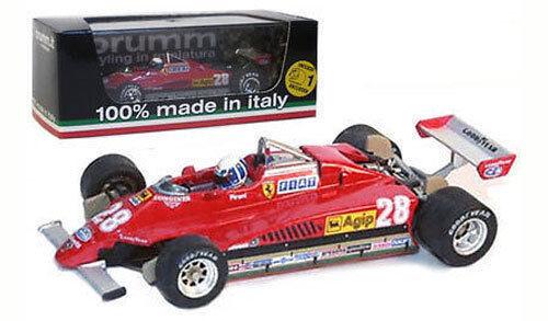 BRUMM r268-ch FERRARI 126C2 Turbo San marino gp 1982-D Pironi, échelle 1 43,