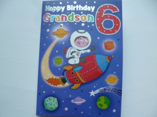 AGE 6 GRANDSON OR GRANDDAUGHTER FANTASTIC QUALITY CARDS