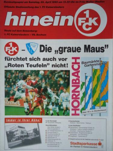 FC Kaiserslautern VfL Bochum Programm 1994//95 1