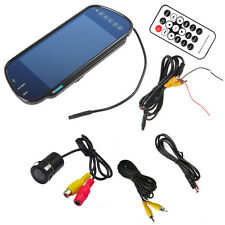 "7"" MP5 Bluetooth Car Rearview Mirror Monitor+HD 420TVL Car Backup Reverse Camera"