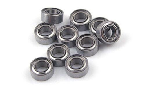 10x Premium 7x13x4 Metal Shield RC Miniature Ball Bearing Metric HopUp Heli Toy