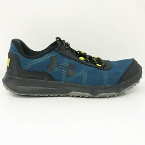 Under Armour Mens Toccoa 1297449-400 Blue Black Running Shoes Lace Up Size 9.5