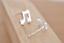 Fille//Femme Argent Sterling 925 Bass Clef Music Note Stud Boucles D/'oreilles Allergie Gratuit