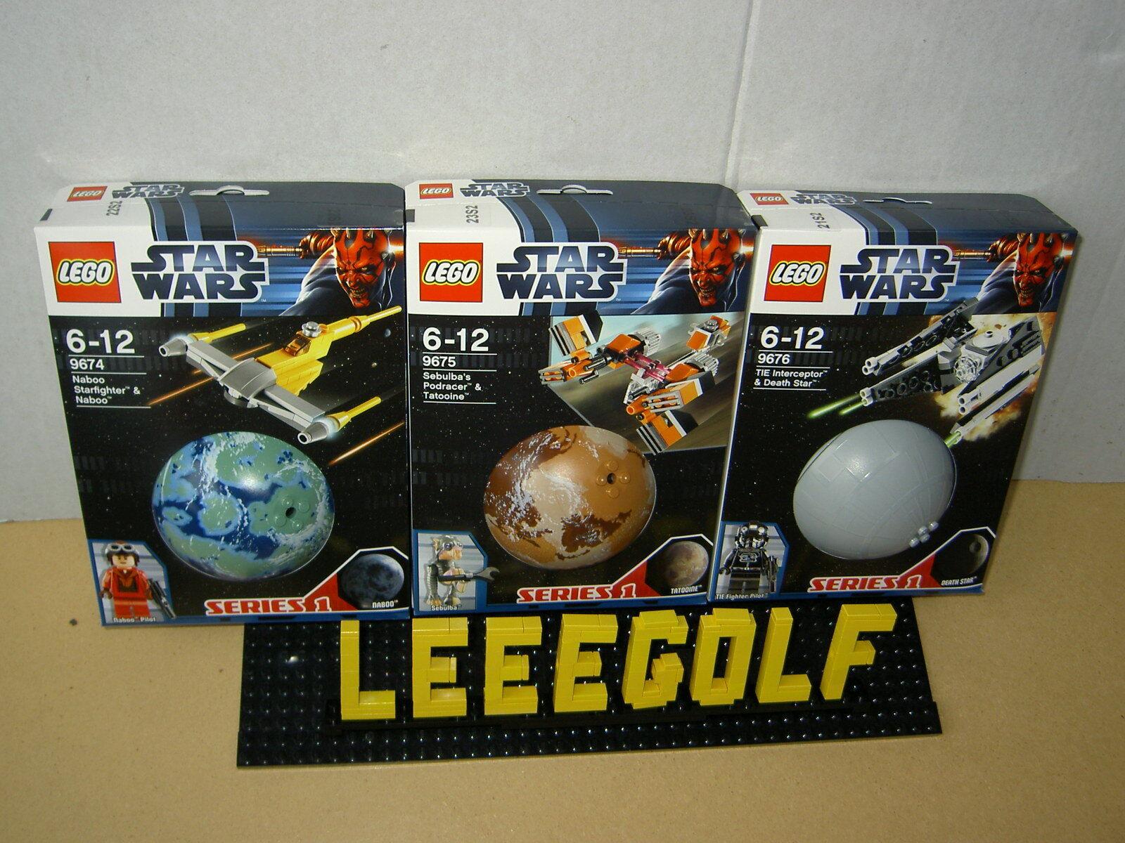 NEU Lego STARWARS Planeten Serie 1   9674 + 9675 + 9676 NEU + ungeöffnet + OVP