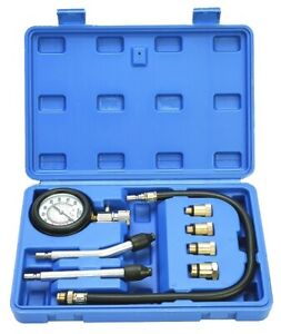 Professional Petrol Gas Engine Cylinder Compression Gauge Tester Tool Motor Auto