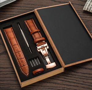 Leather-Mens-Watch-Strap-Band-For-Tissot-Citizen-Timex-Oris-Casio-Seiko