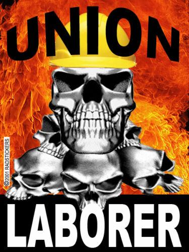union-laborer-skull-flames CL-15