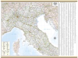 ITALIA CENTRO NORD CARTINA MURALE [119X88 CM] [CARTA/MAPPA/POSTER] BELLETTI