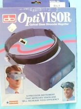 DO OPTI VISOR MODEL #DA-5 HOBBY OPTICAL GLASS BINOCULAR MAGNIFIER, LITE USE -2D