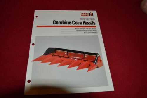 Case International 1000 Series Combine Corn Heads Dealer Brochure LCOH