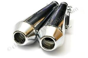 "Great Value Universal Silencers, Reverse Megaphone, 17"", Customs and Café Racers"
