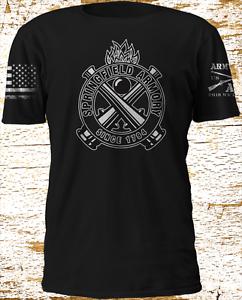 Fusil-SPRINGFIELD-ARMORY-arme-a-feu-USA-Drapeau-Army-Replica-Grunt-Style-T-Shirt-Manches