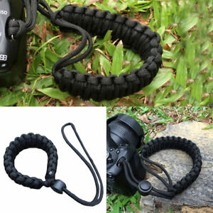 1x-Simple-Camera-Adjustable-Wrist-Strap-Bracelet-Grip-Weave-Cord-For-Paracord