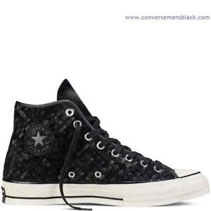 Star Converse Chuck Suede Woven '70 Top Unisex Taylor High All Negro tArYwA