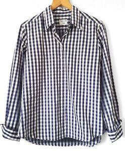 Emanuel-Berg-Langarm-Bluse-Oberteil-Shirt-Damenbluse-Hemdbluse-S-38-40-blau-K19