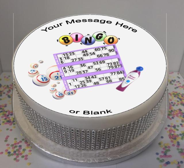 novelty personalised bingo 8 edible icing cake topper birthday ebay
