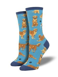 Golden Retriever Dog Cotton Socks Gift//Present Red