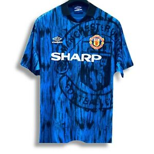 MANCHESTER UNITED 1992/1994 UMBRO AWAY SHIRT (EXCELLENT) LARGE