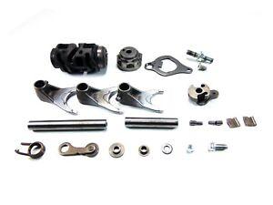 2009-09-Kawasaki-KX250F-KX-250F-Transmission-Shift-Drum-Shaft-Forks-Selector-B