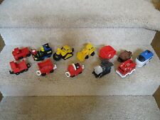 Fisher Price Geo Trax Train Vehicle Push Cars Tractor Wrecking ball Dozer Lot