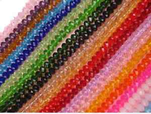 100Pcs-Top-Quality-Czech-Crystal-Faceted-Rondelle-Spacer-Beads-4MM-6MM