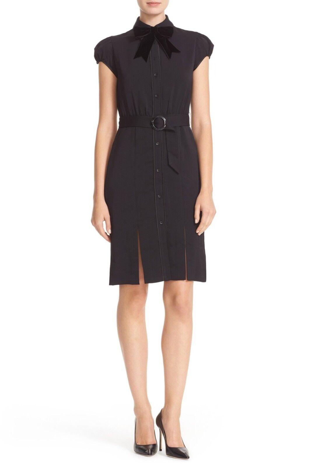 Nuevo Con Etiquetas  395 Alice  + Olivia Cocheies con cinturón Pajarita Entallado En Negro   oferta de tienda