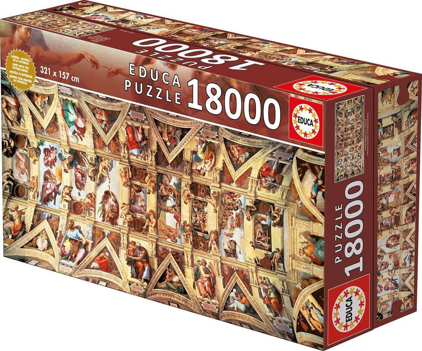 Educa 16065. die Kapelle Sixtinische. Puzzle 18000 Teile. 321x157cm