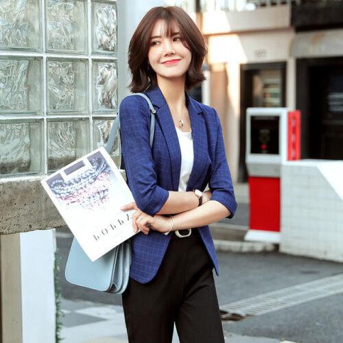 Blu Lunga Completo Giacca Donna Elegante Nero 7179 Tailleur Manica Pantaloni a7n6OI
