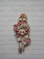 Disney Pirates Of Caribbean PIRATE LIFE FOR ME Pink Sword Jeweled Skull Eyes Pin