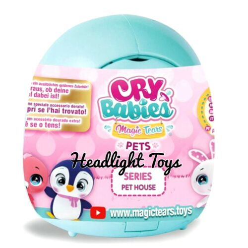 2 Cry Babies Pink /& Teal Magic Tears PET HOUSE Blind Mystery Surprise Packs HTF