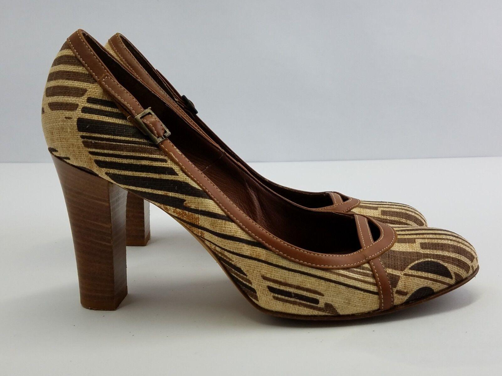 Banana Republic Chaussures Femmes Escarpins Talons Hauts Imprimé en cuir marron Italie sz 8.5