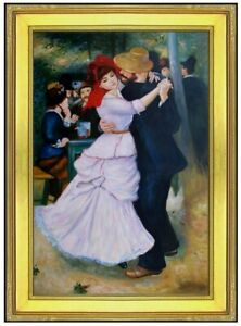 Framed-Pierre-Renoir-Dance-at-Bougival-Repro-Hand-Painted-Oil-Painting-24x36in