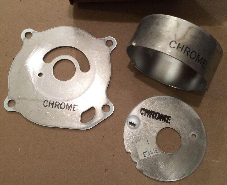 Nos Original Omc Omc Omc Johnson Evinrude Wasser Pumpe Chrom Set 389166 318433 13eb9b