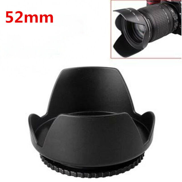 52mm Lens Hood Screw Mount Petal Crown Flower Shape for Canon Nikon Sony Pentax