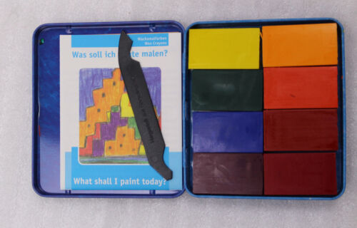 Stockmar Wachsmalblöcke 8 Farben Waldorfsortiment mit Schaber 34001 NEU