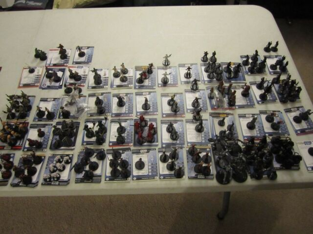 Star Wars miniatures 30 different minis, no cards